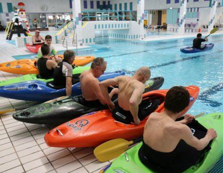 Eskimoteren in het zwembad