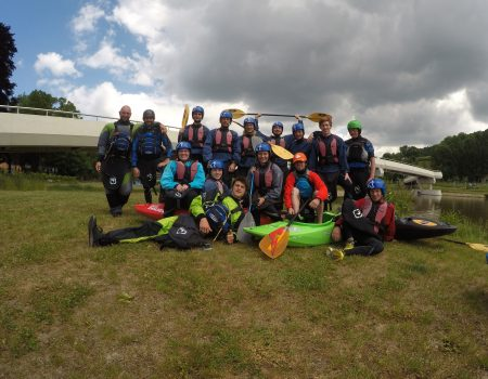 Wildwater met collega 's